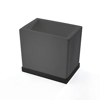 3SC Mood Deluxe Стакан настольный, композит Solid Surface, цвет: чёрный матовый/черный матовый