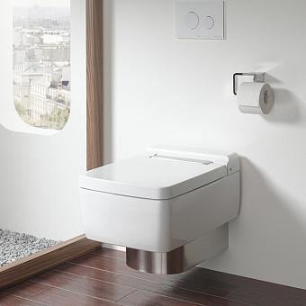 TOTO SG Унитаз подвесной 390x582x339 мм, безободковый, CeFiONtect, Tornado Flush цвет: белый с сиденьем