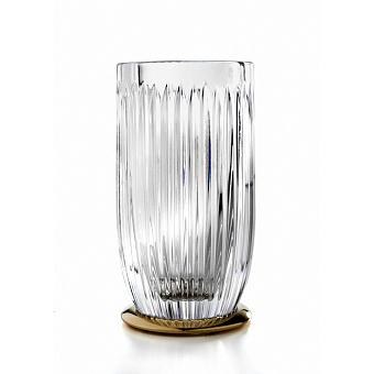 3SC ELEGANCE Стакан настольный, цвет: прозрачный хрусталь/золото 24к.