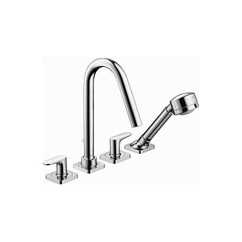 AXOR Citterio M, Смеситель для ванны, на 4 отверстия, монтаж на плитку, цвет: хром