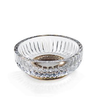 3SC Elegance Мыльница настольная, цвет: прозрачный хрусталь/золото 24к. Lucido