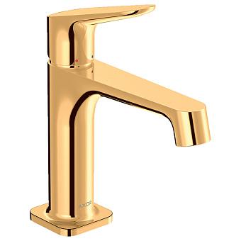 Axor Citterio M Смеситель для раковины, на 1 отв., излив: 12.8см, без донного клапана, цвет: полированное золото