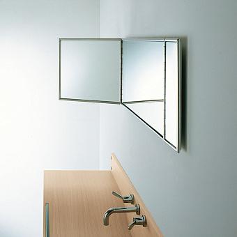 Agape Gabbiano Зеркало со стальным каркасом 140x40 см, цвет: нержавеющая сталь