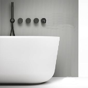 Falper Acquifero Смеситель для ванны, 5 отв., настенный, цвет: черный матовый