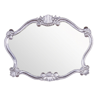 TW Зеркало в раме 91хh70см, цвет рамы глянцевой серебро