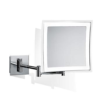 Decor Walther BS 85 Touch Косметическое зеркало 23x21см, подвесное, увел. 5x, сенсорный вкл., подсветка LED, цвет: хром