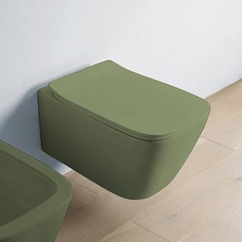 Artceram A16 Унитаз подвесной 52.5х36 см, безободковый, с крепежом, цвет: Green salvia
