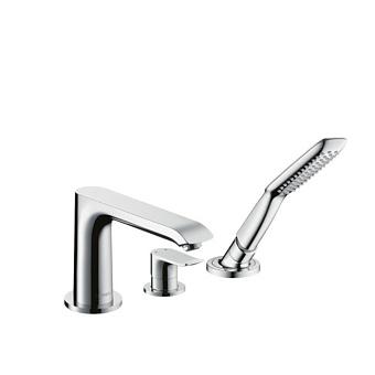 Hansgrohe Metris Смеситель на борт ванны, однорычажный, на 3 отв., цвет: хром