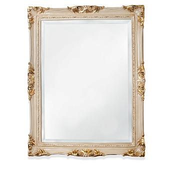 TW Зеркало в раме 72х92см, цвет  слоновая кость/золото