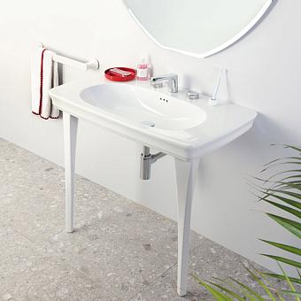 Artceram CIVITAS Раковина-консоль подвесная 90х50 см, са 1 отв под смес. с крепл, цвет белый с ножками керамическими цвет белый