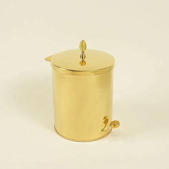 Cristal et Bronze Prestige Ведро с крышкой и педалью, цвет: золото