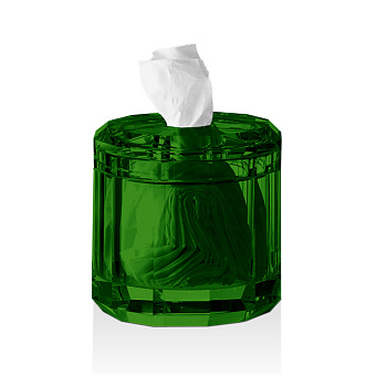 Decor Walther Kristall KB Диспенсер для салфеток 15x15см, хрустальное стекло, цвет: английский зеленый