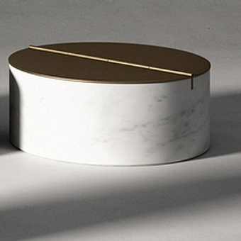 Agape Constellation Контейнер с крышкой 25х10см, настольный, мрамор Carrara, цвет: белый