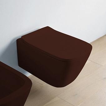 Artceram A16 Унитаз подвесной 52.5х36 см, безободковый, с крепежом, цвет: marrone cocoa
