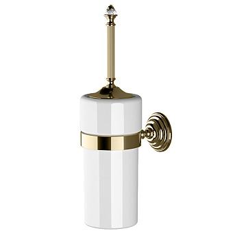Devon&Devon Diamond Туалетный ершик, подвесной, белая керамика, цвет: светлое золото