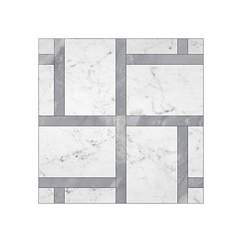Devon&Devon Elite Плитка из натурального камня 60x60см, универсальная, мрамор, elite 12, цвет: white carrara/grey bardiglio