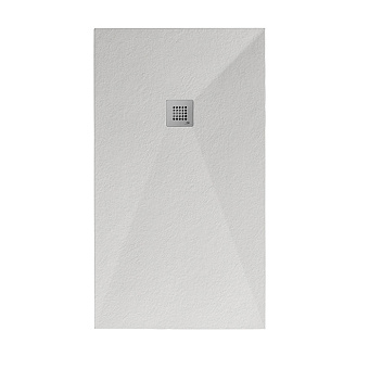 Noken Slate Душевой поддон 100x90см, Mineral Stone, цвет: белый