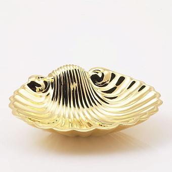 Cristal et Bronze Prestige Мыльница в форме ракушки 15.5 x 12.5 см, цвет: золото