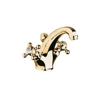 Kludi Adlon Смеситель для раковины, на 1 отв., цвет: золото