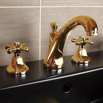 Cristal et Bronze Charlety Смеситель для раковины, цвет золото 24 к.