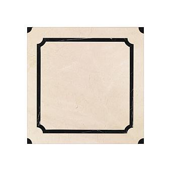 Devon&Devon Prestige Плитка из натурального камня 60x60см, универсальная, мрамор, prestige 5, цвет: crema marfil/black marquinha