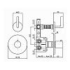 """Zucchetti Simply beautiful Встроенный термостатический смеситель для душа, 1/2"""", с запорным клапаном, цвет: хром"""