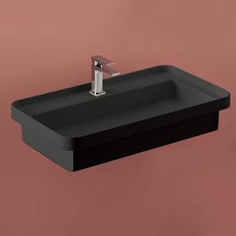 Artceram Fuori Scala Раковина встраиваемая, 80х45см, без отв под смеситель, без перелива, цвет: черный матовый