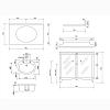 Gentry Home Lord Комплект мебели 90х86х58 см c мраморным топом и раковиной