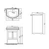 KERASAN Retro Комплект мебели, с закругленным фасадом, 73см, Цвета: bianco matt.