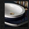 Karol Bania comp. №10, комплект подвесной мебели 75 см. цвет: Bleu Nuit фурнитура: золото