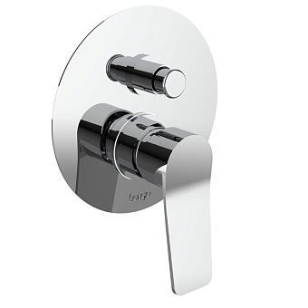 Bongio GIO2 Смеситель встроенный для душа с переключателем, 2 выхода, цвет: хром