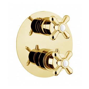 Webert Armony Смеситель для душа, встраиваемый, термостатический, переключатель на 2 потока, цвет: золото