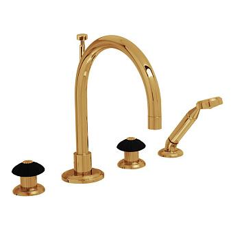 Cristal et Bronze Star Charles X Смеситель для ванны, цвет золото 24 к.