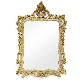 TW Зеркало в раме 71х107см, цвет рамы  слоновая кость/золото