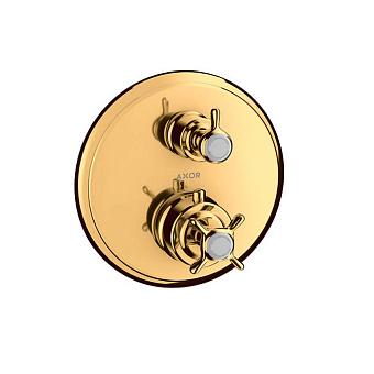 Axor Montreux Термостат с запорным вентилем, СМ, 1 потебитель, цвет: полированное золото