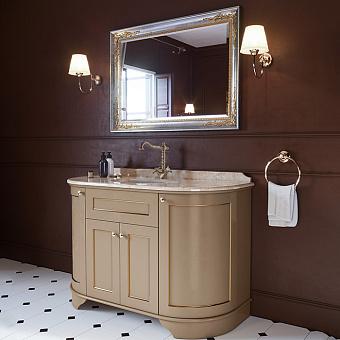 TW York Nuovo Комплект мебели с мраморной столешницей с 1 отв. и зеркалом, 130см, Цвет базы: pennellato/oro, мрамор: diano