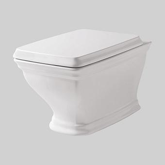 Artceram CIVITAS  Унитаз подвесной 36х54 см, с крепеж. цвет белый с сиденьем белым петли хром, микролифт