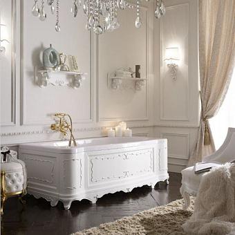 Mobili Di Castello Dante Ванна пристенная 170х85х57 см, декор Bianco lucido