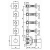 Zucchetti Bellagio Встроенный термостатический смеситель с 4 запорными клапанами, цвет: хром