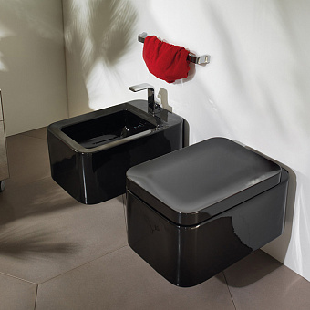 Flaminia Nile Унитаз подвесной 54x35xh23см, с системой goclean®, цвет: черный глянцевый