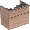 Geberit iCon Тумба с раковиной 74х62х47.7см, с 1 отв., подвесная, с двумя выдвижными ящиками, цвет: натуральный дуб/меламин