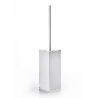 3SC Mood Deluxe Туалетный ёршик, напольный, композит Solid Surface, цвет: белый матовый/белый матовый