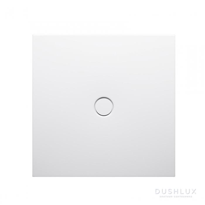 BETTE FLOOR Душевой поддон квадратный 90х90 см, с отв-м слива d=90мм, с шумоизоляцией, цвет: белый