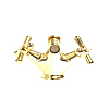 Webert Armony Смеситель для биде, на 1 отв., с донным клапаном, цвет: золото