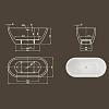 Knief Form XS Ванна отдельностоящая 155х75х60 см, без слива-перелива, цвет: белый