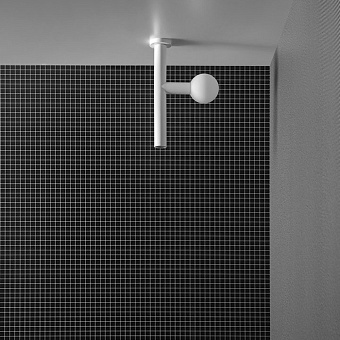 Antonio Lupi Apollo Верхний душ Ø45 мм., с LED подсветкой, потолочный монтаж, цвет: белый матовый