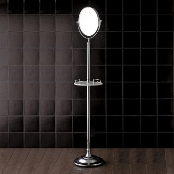 Devon&Devon SingleПолочка с зеркалом на подставке, цвет: хром
