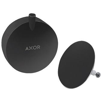 Axor Внешняя часть набора налив-перелив, цвет: черный матовый
