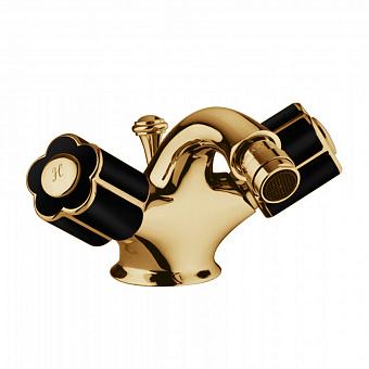 Bongio Fleur Noir Смеситель для биде, цвет: золото/черный фарфор