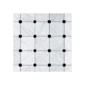 Devon&Devon Elite Плитка из натурального камня 60x60см, универсальная, мрамор, elite 1, цвет: white carrara/black marquinha